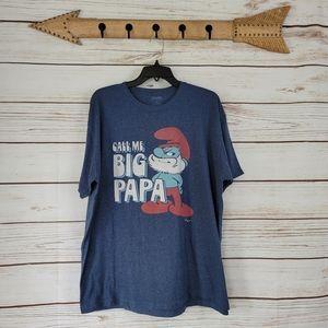 Smurfs | Call Me Big Papa Short Sleeve Crew Shirt